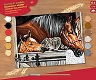 Картина по номерам «Лошади в стойле», SA1523, купить