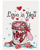 Картина по номерам «Love is you», КНО5526, купить