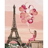 """Картина по номерам """"Лиловые краски Парижа"""" ★★★★, КНО4761, фото"""