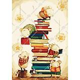 Картина по номерам «Маленькие читатели», КНО4111, фото