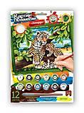 Картина по номерам «Мама леопард с детьми», KN-03-03, фото