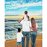 """Картина по номерам """"Моя семья"""" ★★★★★ Идейка (КНО4743), КНО4743, магазин игрушек"""