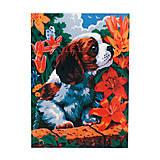 Картина по номерам «Милый щенок», 30*40 см, 01580