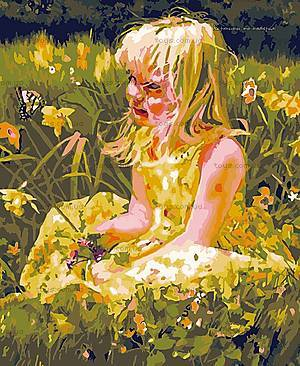 Картина по номерам «На цветочной поляне», MG1038