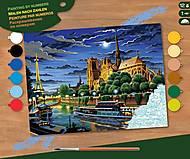 Картина по номерам «Ночной Париж», SA0424, купить
