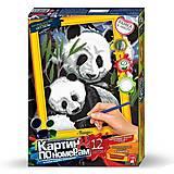 Картина по номерам «Панды», KN-01-01, фото