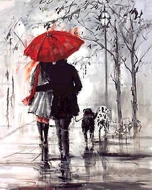 Картина по номерам «Пара под красным зонтом», КН2620