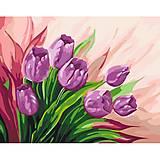 """Картина по номерам """"Персидские тюльпаны"""", 40*50 см, КНО2924"""