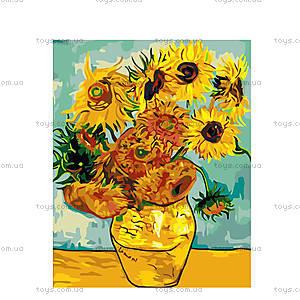 Картина по номерам Подсолнухи Ван Гог, КН098