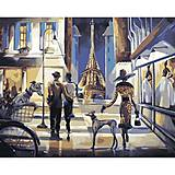 Картина по номерам «Прогулка по Парижу», КН2124