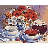 Картина по номерам, приглашение на чай, КН2029, фото