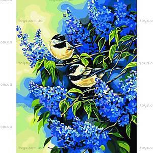 Картина по номерам «Птички на ветках сирени», КН216