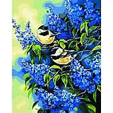 Картина по номерам «Птички на ветках сирени», КН216, купить