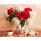 Картина по номерам «Пионы и вишни», КН2055