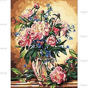 Картина по номерам «Роскошные пионы», КН081