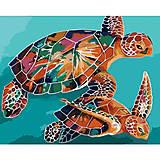 Картина по номерам с черепахами, КНО2455