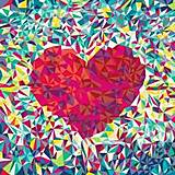Картина по номерам «Сердце поп-арт», КНО2039