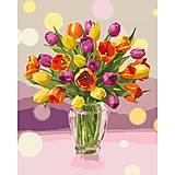 Картина по номерам «Солнечные тюльпаны» ★★, КНО3064, отзывы