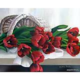 Картина по номерам «Тюльпаны в корзинке», КН2064, фото