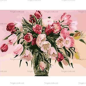 Картина по номерам «Тюльпаны в вазе», КН1072