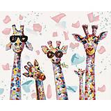 Картина по номерам «Веселые жирафы», КНО4115, отзывы