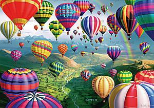 Картина по номерам «Воздушные шары», КН1056
