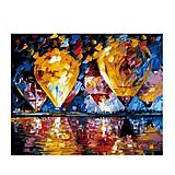 Картина по номерам «Воздушные шары над заливом», КН1012, фото
