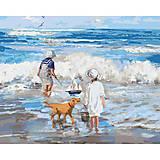 Картина по номерам «Играя с волнами», КНО2323, отзывы