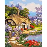 """Картина по номерам """"Загородный дом"""", КНО2255, отзывы"""
