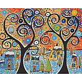 Картина по номерам «Зимний городок», КНО2827, фото