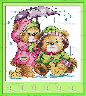 Картина «Под дождем» для вышивки крестиком, K566