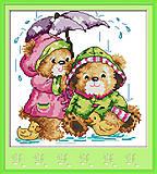 Картина «Под дождем» для вышивки крестиком, K566, фото