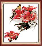 Картина «Птицы и цветы», канва, схема, нитки, D117, фото