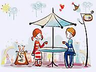 Картина раскраска по номерам «Первое свидание», КНО2626, купить
