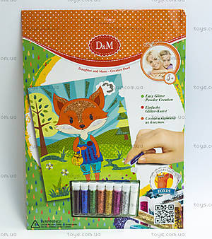 Картина с блестками «Лисы», набор для декорирования, 61994