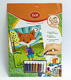 Картина с блестками «Лисы», набор для декорирования, 61994, фото