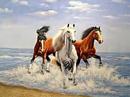 Картина с лошадками по номерам, КН2430, отзывы