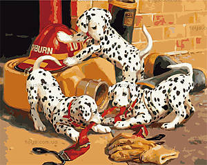 Картина с собачками «Озорные далматинцы», КН1131