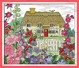 Картина «Утро в деревне», вышивка крестиком, F397