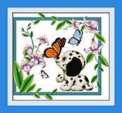 Картина «Веселый песик», вышивка крестиком, K048, купить