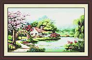 Картина «Весенний сад», вышивка крестиком, F058, отзывы