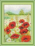 Картина «Весна в горах» для вышивки крестиком, H238