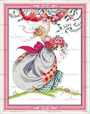 Картина «Волшебная девушка», вышивка крестиком, R533