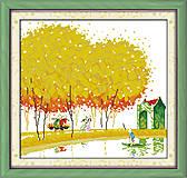 Картина «Японский пейзаж» вышивка крестиком, F103