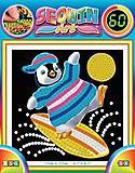 Картина из пайеток «Пингвин», SA1328, отзывы