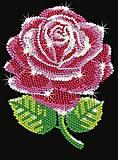 Картина из пайеток «Роза», SA1001, фото