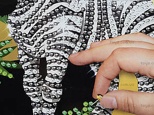 Картина из пайеток «Зебра», 4745, купить