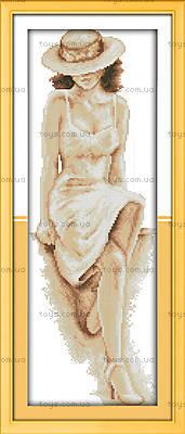 Картина «Загадочная леди», вышивка крестиком, R534