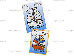 Картинка из пайеток и глиттера «Кораблик», 900-7, фото