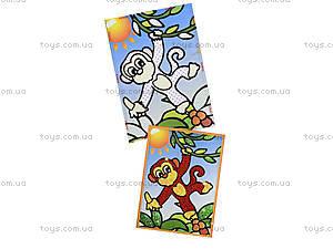 Картинка из пайеток и глиттера «Обезьянка», 900-1, фото